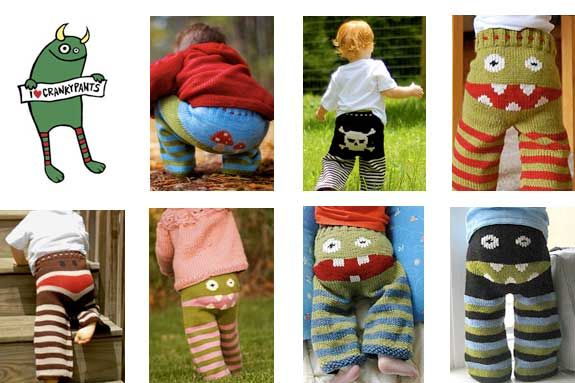Hand knit pants for kids
