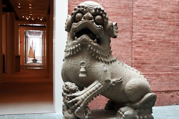 Dragons on display at the Peabody Essex Museum in Salem Massachusetts