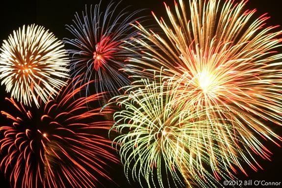 Independence Day Fireworks in Lynn, Massachusetts, July 4