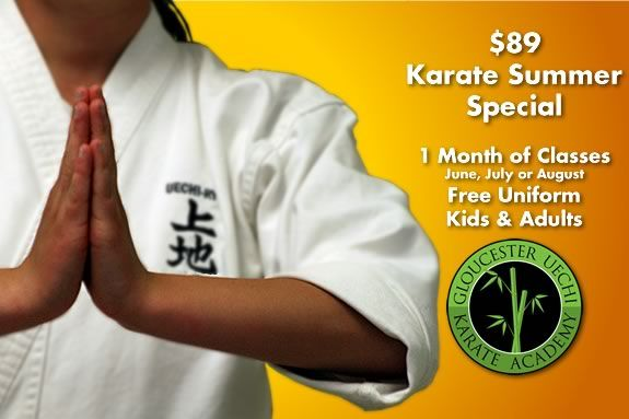 Gloucester Karate Academy is offering a Summer special for new students looking to try the martial arts.