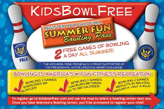 Kids bowl free is a program designed to help kids stay active and safe.