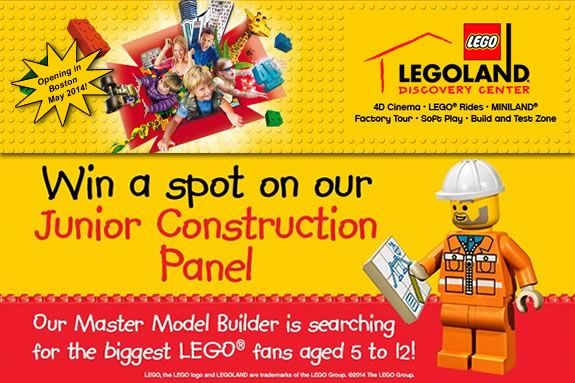 Kid ages 5-12 are eligible to be LEGO Ambassadors in Boston Massachusetts!
