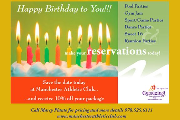 Manchester Athletic Club Birthday Parties are Fun and Easy