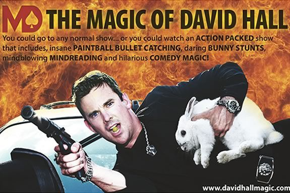 David Hall mixes magic and comedy to keep the crowd engaged and laughing!