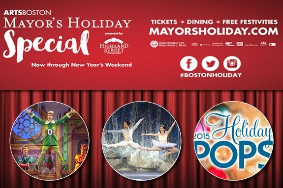 Save money on Boston area holiday shows by taking advantage of the Mayor's Holiday Special!