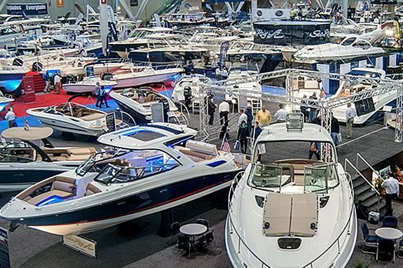 The New England Boat Show in Boston Massachusetts