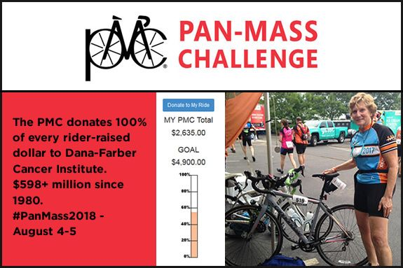 Pan Mass Challenge rider Nancy Forristall needs our support. Donate today!