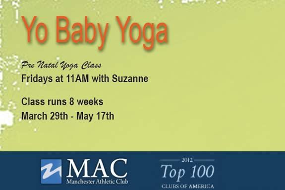 Pre Natal Yoga Class at Manchester Athletic Club in Manchester MA