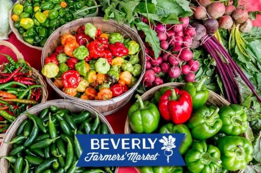Get fresh local produce at the Beverly Farmers Market in downtown Beverly Massac