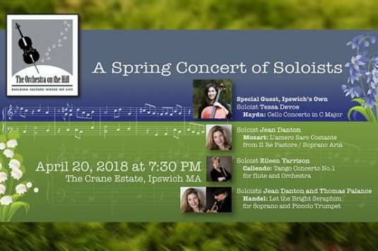 The Orchestra on the Hill will perform at Crane Estate to celebrate Spring!