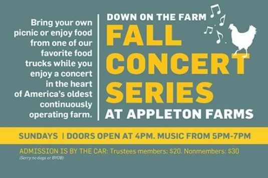 Down on the Farm Fall Concert Series at Appleton Farms in Ipswich Massachusetts