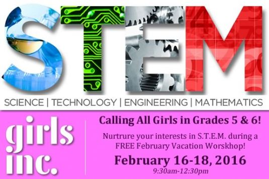 Girls Inc of the Seacoast February Vacation STEM Workshop.