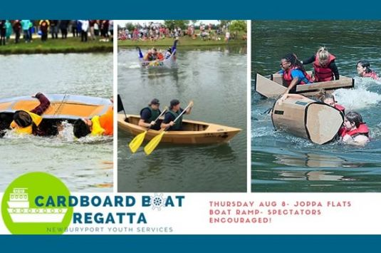 Newburyport Youth Services hosts a cardboard boat regatta on the waterfront!