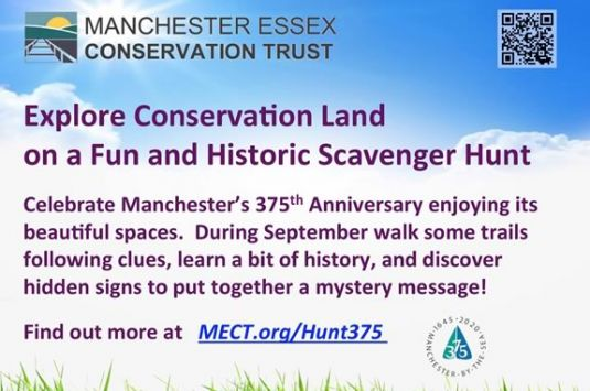 The Manchester Essex Conservation Trust Scavenger is a healthy challenge for the entire family!
