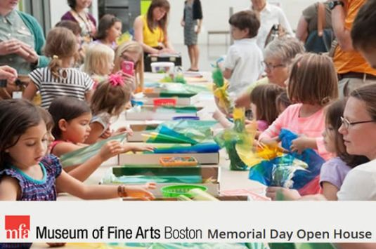 Museum of Fine Arts Open House free admission event for north shore families