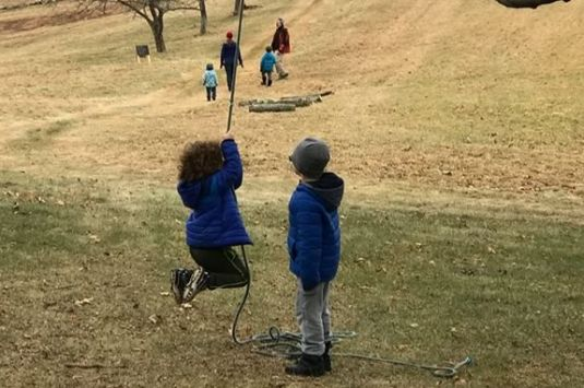 Kids can run and play in the wide open spaces of the Stevens-Coolidge Estate in North Andover