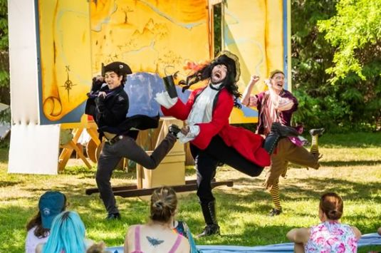 Theater in the Open presents a Peter Pan Panto at Maudslay State Park in Newburyport Massachusetts