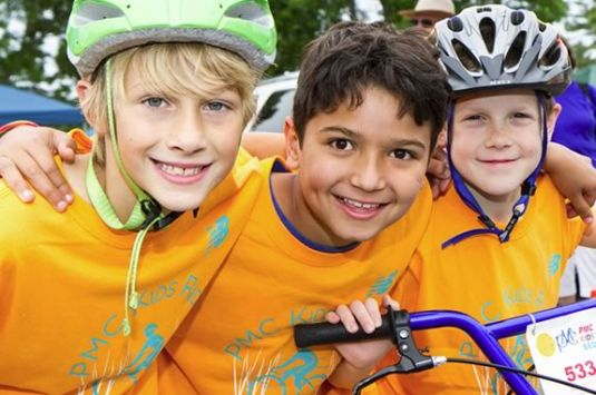 Kids are encouraged to ride their bikes to raise money for the Pan Mass Challenge in Newburyport