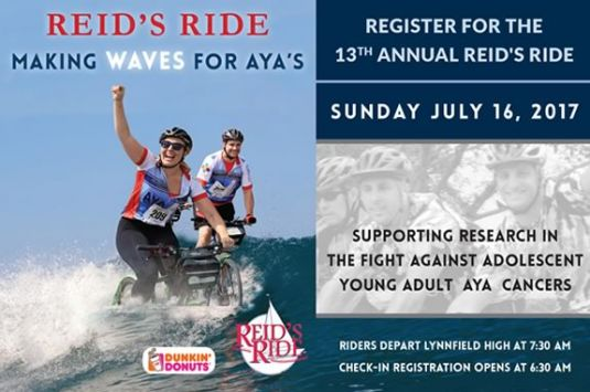 Reid's Ride is a true North Shore event where participants travel at their own pace along the town and country roads of Essex County