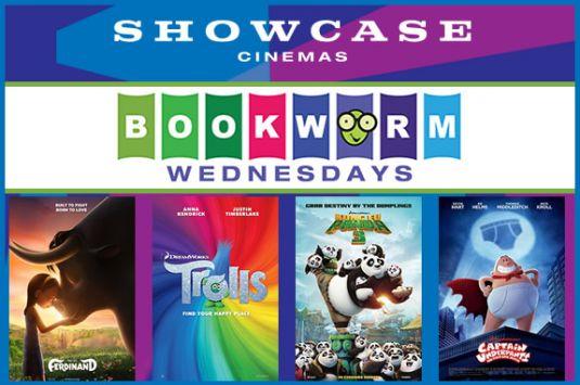 Showcase Cinemas Bookworm Wednesdays Revere, Lowell, Woburn