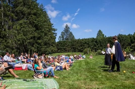 Theater in the Open presents a Shakespeare's The Tempest at Maudslay State Park in Newburyport Massachusetts