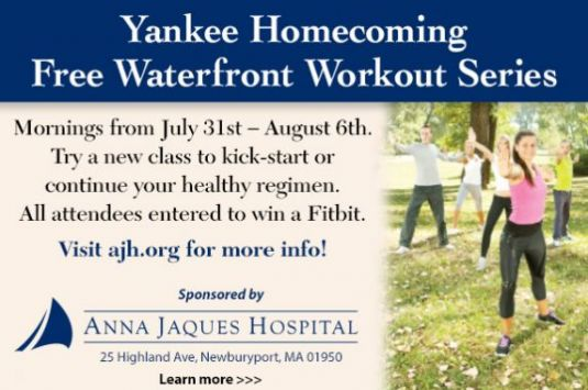 Free workout classes on the Newburyport waterfront throughout the week